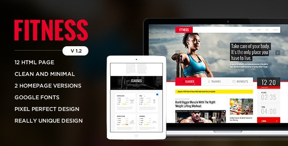 Fitness - Retina Responsive HTML Template - Health & Beauty Retail