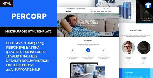 PerCorp - Multi-Purpose Responsive HTML Template  - Business Corporate