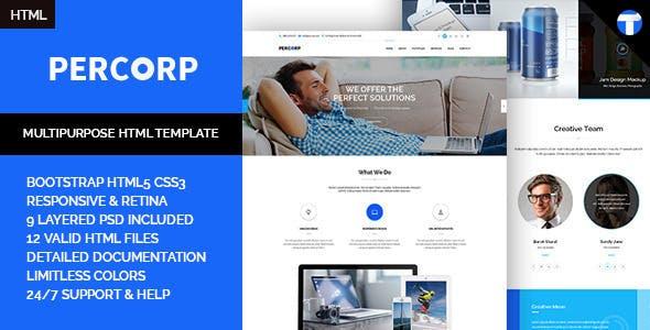 PerCorp - Multi-Purpose Responsive HTML Template
