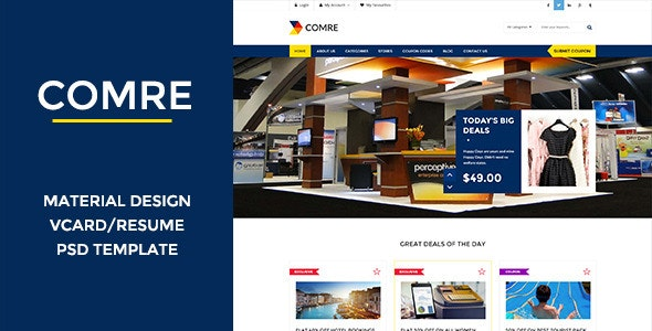 Comre - Coupon & Offers PSD Template - Shopping Retail