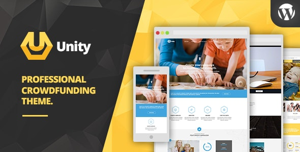 Unity - WordPress Crowdfunding Theme - Charity Nonprofit