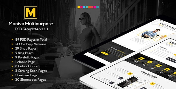 Maniva Multipurpose PSD Template - Creative Photoshop