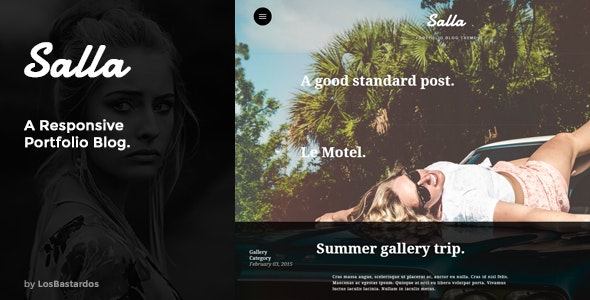 Salla - Responsive Fullscreen Portfolio Blog - Creative Site Templates