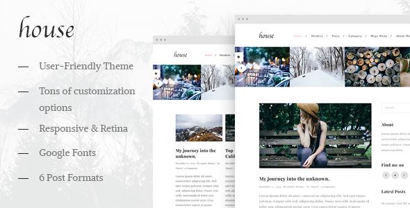 House - Personal Creative Blog Wordpress Theme - Personal Blog / Magazine