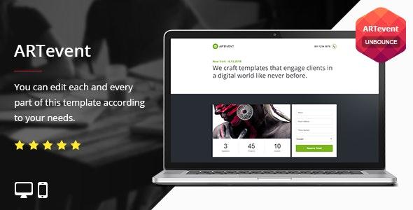 ARTevent - Unbounce Template - Unbounce Landing Pages Marketing