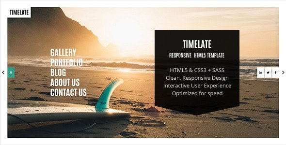 Timelate - Responsive Portfolio & Photography Template - Creative Site Templates