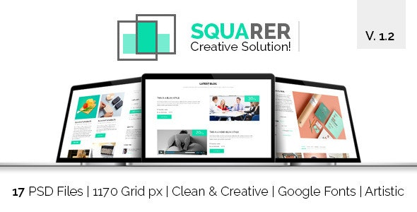 Squarer Agency PSD Template - Business Corporate