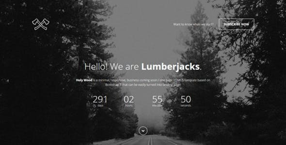 Holy Wood - Responsive Coming Soon Template
