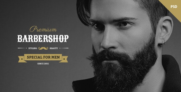 Barbershop - One Page Multipurpose Barbers Theme - Photoshop UI Templates