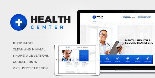 Health Center PSD - Health & Beauty Retail