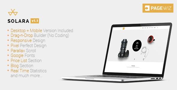 Solara - Multi-Purpose Creative Pagewiz Template - Pagewiz Marketing