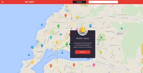 HTML Directory Geolocation, Social Network