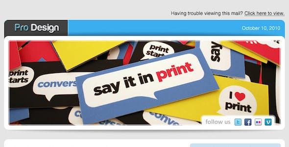 Pro Design Newsletter Template