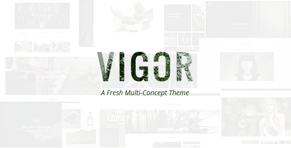 Vigor - Vintage WordPress Theme - Creative WordPress