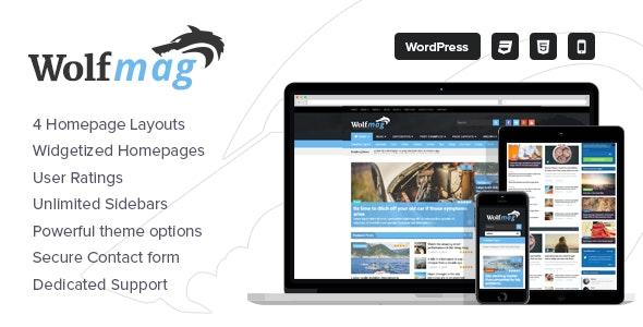Wolf - Responsive WordPress Magazine Theme - Blog / Magazine WordPress