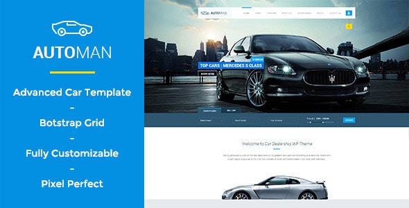 Automan - Advanced Car Dealer PSD Template - Business Corporate