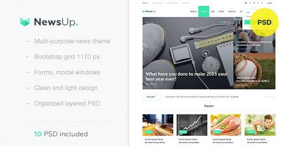 NewsUp — Multi-purpose News PSD Template - Retail Photoshop