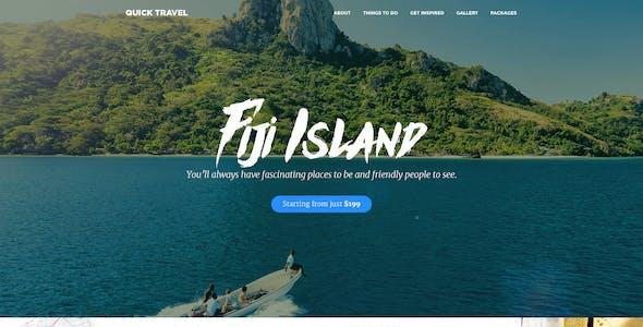 QuickTravel - Responsive Unbounce Landing Page