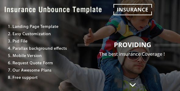 Insurance Unbounce Landing Page