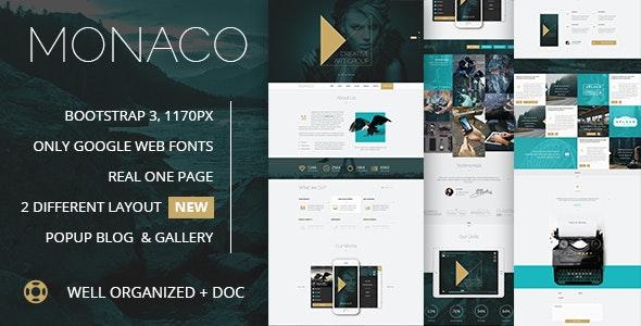 Monaco - Creative Bootstrap 3 PSD Template - Creative Photoshop