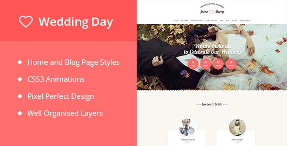 Wedding Day | Wedding Event Template - Creative Muse Templates