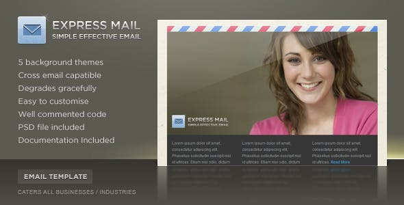 Express Mail Newsletter Template (5 Themes)
