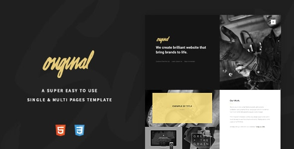 Original - An Easy To Use Creative Template - Creative Site Templates