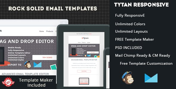 Tytan-Responsive Email Template with Editor