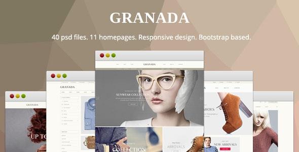 Granada - Responsive eCommerce PSD Template - Retail Photoshop