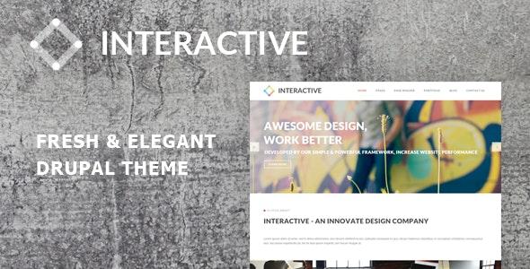 Interactive - Elegant & Creative Drupal 7.6 Theme - Drupal CMS Themes