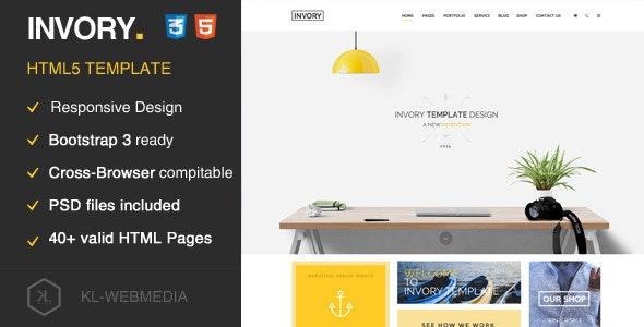 Invory - Multi-Purpose HTML5 Template - Marketing Corporate
