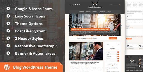Impala Boulevard - Blog, Magazine WordPress Theme - Blog / Magazine WordPress