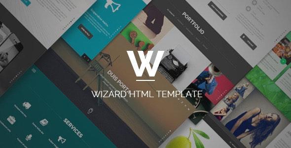 Wizard - Fullpage Portfolio HTML Template - Portfolio Creative