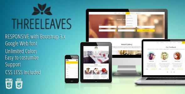 Threeleaves - Responsive Hotel Template