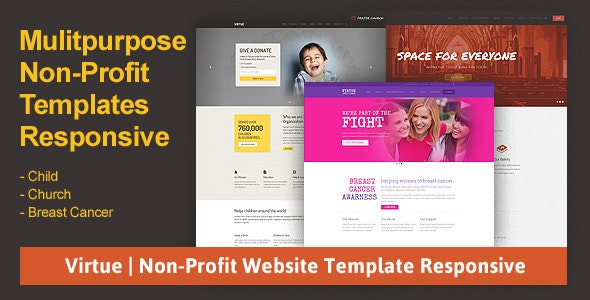 Virtue | Non-Profit Website Template Responsive - Charity Nonprofit