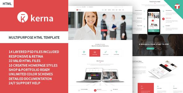 Kerna - Responsive Multi-Purpose HTML Template  - Business Corporate