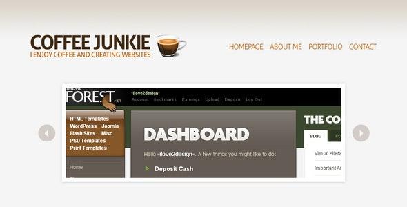 Coffee Junkie XHMTL/CSS Version - Creative Site Templates
