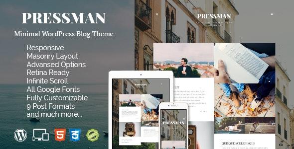 Pressman - Minimal WordPress Blog Theme - Personal Blog / Magazine