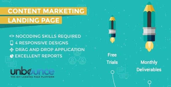 Content Marketing Unbounce Landing Page - Unbounce Landing Pages Marketing