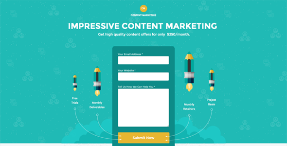 Content Marketing Unbounce Landing Page