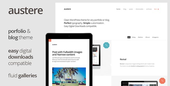 Austere - Digital Products Shop & Blog