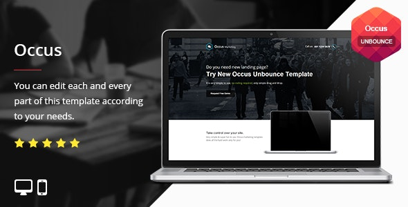 Occus - Unbounce Template - Unbounce Landing Pages Marketing