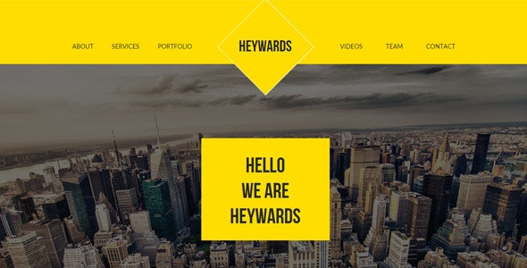 Heywards - Multi-purpose Muse Template - Creative Muse Templates