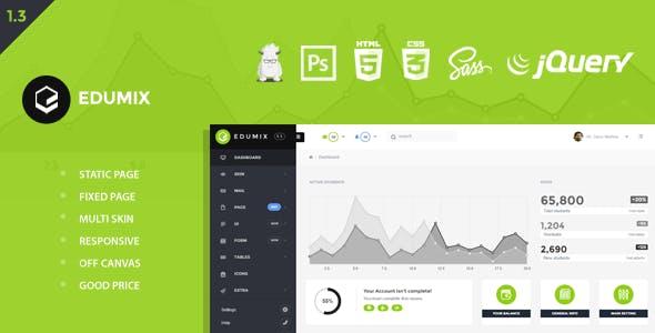 Edumix - Foundation Zurb Admin Dashboard