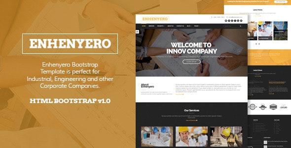 Enhenyero - Engineering/Industrial Theme - Corporate Site Templates