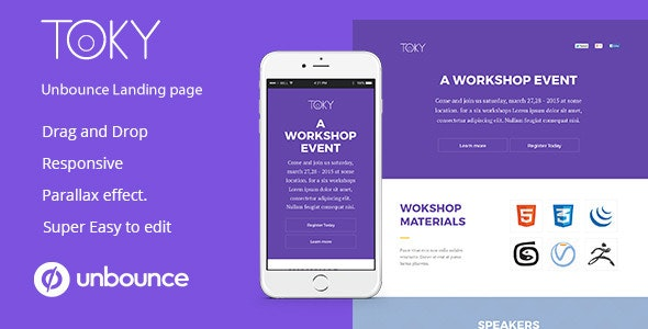 Toky Workshop Event landing Page For Unbounce - Unbounce Landing Pages Marketing
