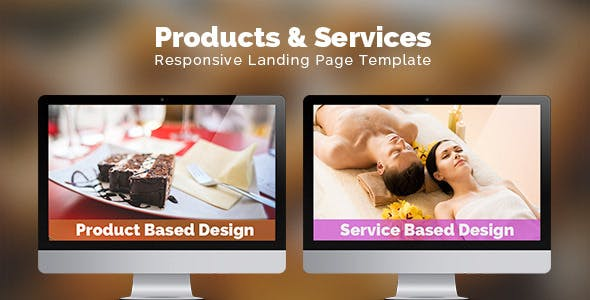 Products & Services Landing Page