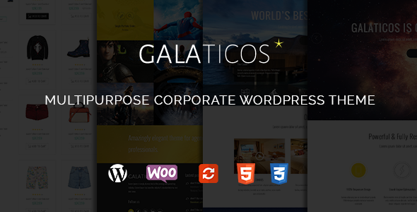 Galaticos - Multipurpose Corporate WordPress Theme - Business Corporate