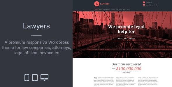 Lawyers - Responsive Business Wordpress Theme - Business Corporate