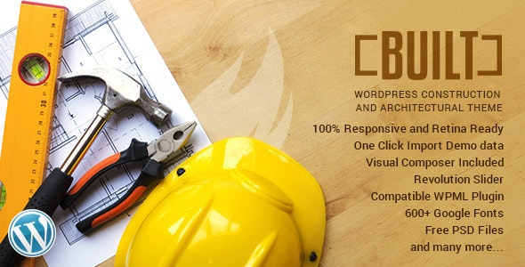 BUILT | Construction Business WordPress Theme - Business Corporate